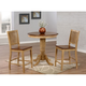 Brook 3-pc. Round Dining Table Set w/ Slat Back Chairs