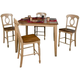 Brook 5-pc. Counter Height Dining Set W/ Napoleon Chairs