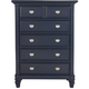 Varsity Bedroom Chest - Navy Blue