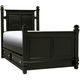 Varsity Twin Post Bed w/ Trundle - Black