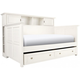 Varsity Bookcase Daybed w/ Trundle - White