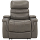 Optimus Leather Power Recliner w/Power Headrest and Lumbar