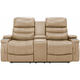 Optimus Leather Power Console Loveseat w/Power Headrest and Lumbar