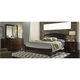 Avalon 4-pc. Upholstered King Panel Bedroom Set w/ Square Mirror