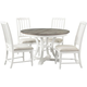 Colette 5-pc. Round Dining Set w/ Upholstered Chairs