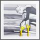 Yellow Ballerina Hologram Framed Wall Art