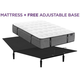 Aireloom Pure Luxury Augusta Plush Euro Top Queen Mattress with Free Adjustable Base