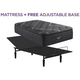 Beautyrest Black C Class Luxury Plush Pillowtop Twin XL Mattress with Free Adjustable Base