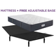 Beautyrest Platinum Landon Springs Plush Queen Mattress with Free Adjustable Base