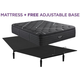 Beautyrest Black C Class Luxury Plush Pillowtop Queen Mattress with Free Adjustable Base