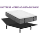 Aireloom Cypress Point Plush Queen Mattress with Free Adjustable Base