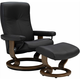 Stressless Dover Medium Chair w/Ottoman
