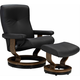 Stressless Dover 4-pc. Medium Chair w/Ottoman