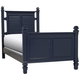 Varsity Twin Post Bed - Navy Blue