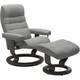 Stressless Opal Small Classic Reclining Chair and Ottoman