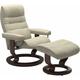 Stressless Opal Medium Classic Reclining Chair and Ottoman