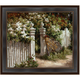 White Fence Framed Canvas Wall Art
