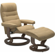Stressless Opal Large Classic Reclining Chair and Ottoman