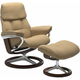 Stressless Ruby Large Signature Leather Reclining Chair and Ottoman
