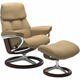 Stressless Ruby Medium Signature Leather Reclining Chair and Ottoman