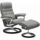 Stressless Opal Medium Signature Reclining Chair and Ottoman