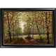 Fall Trees Framed Canvas Wall Art