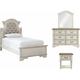 Libbie Upholstered Twin Panel 4-pc. Bedroom Set