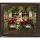 Flowers on Window Framed Canvas Wall Art