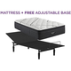 Beautyrest Black L Class Medium Pillowtop Twin XL Mattress with Free Reverie 2EM Adjustable Base