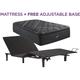 Beautyrest C Class Medium Pillowtop Twin XL Mattress with Free SimpleMotion Adjustable Base