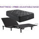 Beautyrest Black C Class Plush Pillowtop Twin XL Mattress with Free SimpleMotion Adj Base