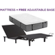 Aireloom Pure Luxury Cypress Point Firm Twin Long Mattress with Free SimpleMotion Adjustable Base