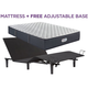 Beautyrest Landon Springs Extra Firm Queen Mattress with Free SimpleMotion Adjustable Base