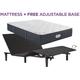 Landon Springs Plush Queen Mattress with Free SimpleMotion Adjustable Base