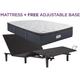 Beautyrest  Landon Springs Plush Pillowtop Queen Mattress with Free SimpleMotion Adjustable Base