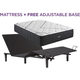 Beautyrest Black L Class Plush Queen Mattress with Free Adjustable Base