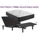 Beautyrest Black L Class Medium Queen Mattress with Free Adjustable Base