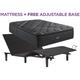 Beautyrest C Class Medium Pillowtop Queen Mattress with Free SimpleMotion Adjustable Base