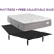 King Koil Natural Response Leighton Plush Pillowtop Queen Mattress with Free Reverie 2EM Adj Base