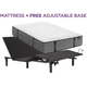 Aireloom Cypress Point Firm Queen Mattress with Free SimpleMotion Adjustable Base