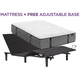 Aireloom Cypress Point Plush Queen Mattress with Free SimpleMotion Adjustable Base