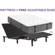 Aireloom Somerset Firm Queen Mattress with Free SimpleMotion Adjustable Base