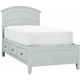 Kylie Youth Full Platform Bed w/ 2-sd. Storage
