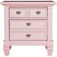 Varsity Nightstand - Light Pink