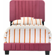 Lodi Upholstered Twin Panel Bed
