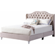 Joy Upholstered King Panel Bed