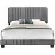 Lodi Upholstered King Panel Bed