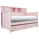 Varsity Bookcase Daybed w/ Trundle - Light Pink