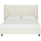 Sheridan Queen Nail Button Tufted Wingback Platform Bed