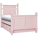 Varsity Twin Post Bed w/ Trundle - Light Pink